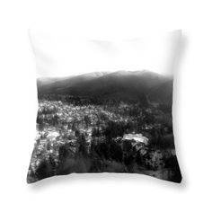 the royal town of Sinaia seen from the cableway Throw Pillow for Sale by Cuiava Laurentiu Pillow Reviews, Haunted Mansion, Pillow Sale, Tag Art, How To Be Outgoing, Color Show, Colorful Backgrounds, Fine Art America, Throw Pillows