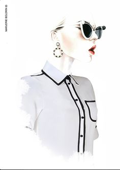 Antonio Soares illustration Model in Mercura with addition of Moschino styled by Marjorie Boldrin