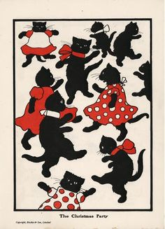 """Illustration from """"The Black Cat Book"""" by Charles Robinson, illustrated by Walter Copeland [Published by Blackie & Son Limited, London, c.1905]"""