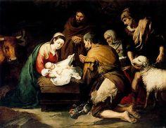 Natividad del Señor Murillo benedicto XVI orando praying castel gandolfo enciclicas oraciones exhortaciones apostolicas krouillong comunion en la mano es sacrilegio