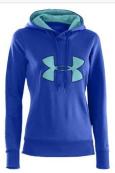Under Armour Storm Armour Fleece Big Logo Hoodie - Women's - Blue / Light Blue Athletic Outfits, Athletic Wear, Sport Outfits, Under Armour Outfits, Under Armour Jackets, Under Armour Sweatshirts, Winter Tops, Sports Shirts, Sweater Hoodie