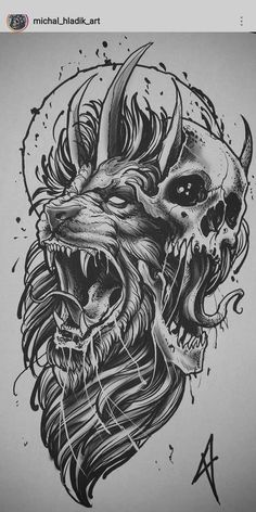 I simply love the designs, lines, and fine detail. This is definitely an awesom. - I simply love the designs, lines, and fine detail. This is definitely an awesome artwork if you wo - Lion Tattoo Design, Tattoo Design Drawings, Tattoo Sleeve Designs, Tattoo Sketches, Sleeve Tattoos, Doodle Drawings, Black Ink Tattoos, Skull Tattoos, Animal Tattoos