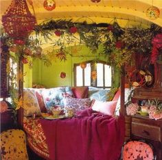 @Mary Powers Powers Dickerson you totally need a gypsy wagon like this to travel in