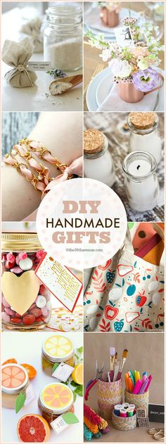 25 Handmade Gifts that are perfect for Christmas gifts, birthday presents, and Mother's Day Gifts... These handmade gift ideas under five dollars are super easy to make, adorable, and affordable... MUST RE-PIN!
