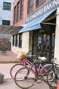 Bikes parked outside The Standard Baking Company - Portland, Maine