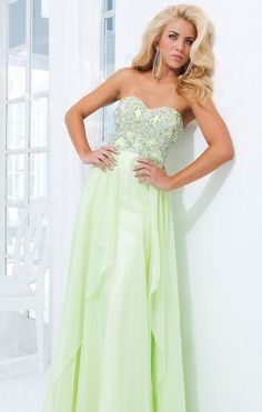 Fashion A-Line Sweetheart Chiffon Floor Evening Dress kaladress13891