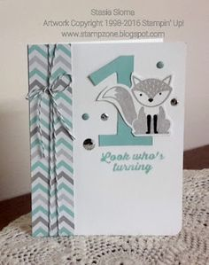 Stampin' & Scrappin' with Stasia: Foxy Birthday Card - SU - Foxy Friends, Hooray It's Your Day