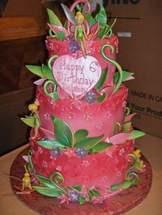 Tinkerbell Cake Birthday Cakes Ideas with Toppers