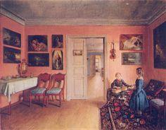 И.Хруцкий. В комнатах усадьбы Захаревичи. 1855 год