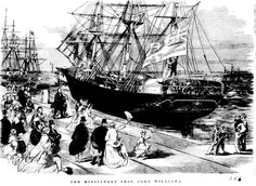 "Historic Event - The Arrival of the Missionary Ship ""John Williams"" at Hobson's Bay on 19 August 1866 19. August, Early Explorers, Historical Pictures, Old Photos, Sailing Ships, Melbourne, The Past, Victoria, Boat"