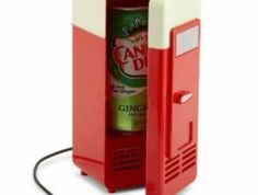 USB Mini Fridge - Ever need to put the chill on just one can of soda? Look no further than this handy desktop mini-fridge. - $18.00