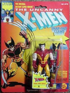 Uncanny X-Men Wolverine I (First Edition) Action Figure by Toy Biz. $12.00. Mask Ring! Wear Wolverine's mask on your finger!. First ever Wolverine Action Figure ever produced!. Snap-Out Claws! Slide the wrist switch to expose slashing claws!. Toy Biz 1991. Special Edition Wolverine Marvel Universe Trading Card Enclosed!. Wolverine action figure with Removeable Mask, Snap-Out Claws and Sword! Wolverine is part of the X-Men 5 inches tall action figure line . Includes of...