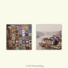 Set of 4 coasters Porto photography by diliabydiam on Etsy