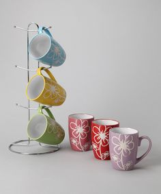 Another great find on #zulily! home basics | Flower Mug & Stand Set by home basics #zulilyfinds