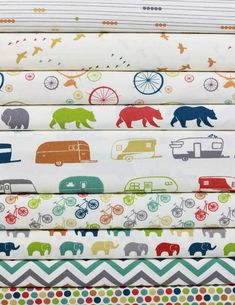 Jay-Cyn Designs for Birch Organic Fabrics, Just For Fun, Entire Collection in FAT QUARTERS 9 Total