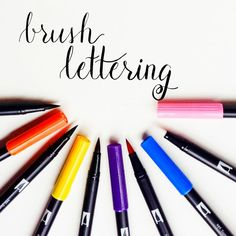The Beginner's Guide to Brush Lettering -- How to Create Brush Lettering with Tombow Markers