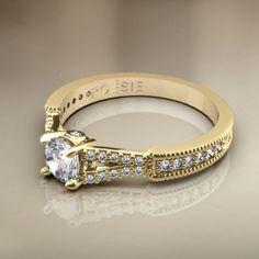 Anel de Noivado Impera II - Anéis de Noivado - Poésie, Joalheria Virtual, o estado da arte em joias.