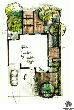 Project: 2014 author: Wiktor Kłyk Scope of the project: site preparation + plants + small architecture + walls Implementation: executive team Wiktor Kłyk Soil: sand Location: Szczecin Usda hardiness zone: Zone to The Plan, How To Plan, Landscape Design Plans, Garden Design Plans, Landscape Architecture Drawing, Small Garden Layout, Garden Layouts, Interior Design Sketches, Garden Drawing