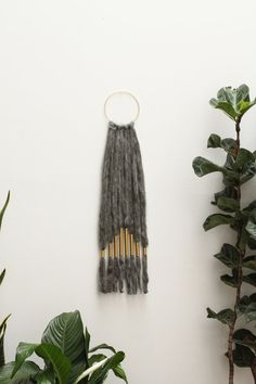 I'm in love with this!!!  Natural Raw Wool and Brass Art Wall Piece by SonadoraInLove, $120.00