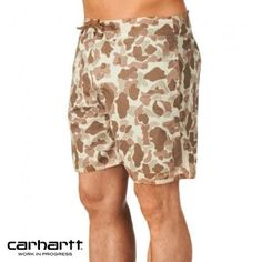 $27, Tan Camouflage Shorts: Carhartt Short Board Shorts Camo Terra. Sold by Surfdome. Click for more info: https://lookastic.com/men/shop_items/59573/redirect