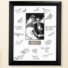 Personalized Wedding Autograph Frame