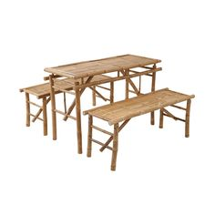 Bei Butlers gesehen: Bierbank-Set 3-teilig Butler, Safari, Picnic Table, Outdoor Furniture, Outdoor Decor, Dining Bench, Home Decor, Hunting, Bamboo