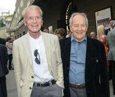 Helmuth Lohner 1933-2015 und sein Freund und Kollege Otto Schenk .Salzburger Festspiele 2013 Bild: APA