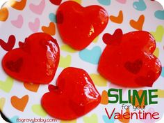 This recipe for homemade Valentines slime is really simple and would be such a fun activity to do with your kids!