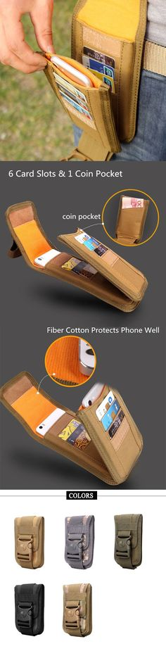 Men Outfit: Outdoor Phone Holder / Card&Coin Pocket