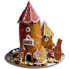 My my son's and his family's Moomin troll gingerbread house Christmas 2000