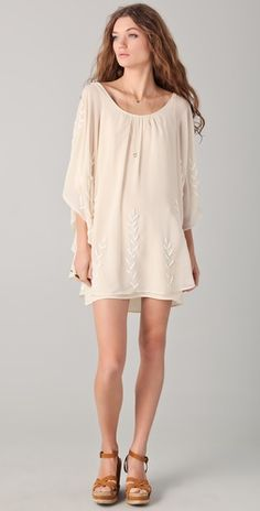 free people embellished cape dress