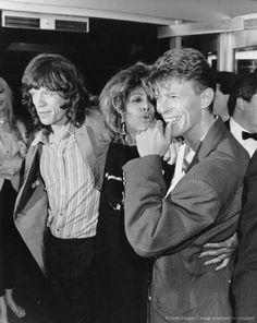 Tina Turner, David Bowe and Mick Jagger