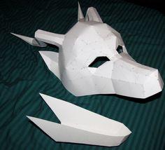Paper Dragon Mask by ~chickentech on deviantART