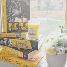 #fullybookedjune16 Day 3: Yellow Books --- Happy Friday! I don't have too many yellow books...I need to fix that!  What's your favorite yellow book? Mine is definitely Harry Potter and the Order of the Phoenix from the gorgeous UK set of HP. --- #fullybookedjune16 #junebookchallenge #fromthepage #harrypotter #daughterofsmokeandbone