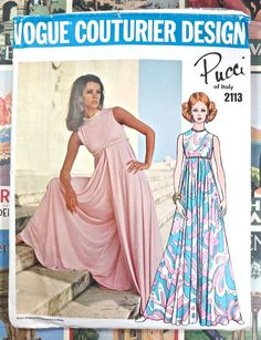 Vogue 2113  Vintage 1960s Pucci Womens Jumpsuit by Fragolina, $72.00