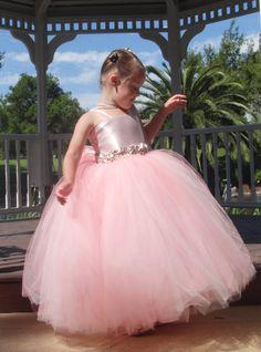Blush Pink Flower Girl Dress by Soleil Creations.       @Heide Vasquez , I love this one