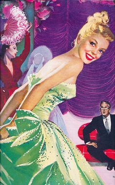 That  fabulous frock is definitely the green goddess of evening gowns! Jon Whitcomb 1948