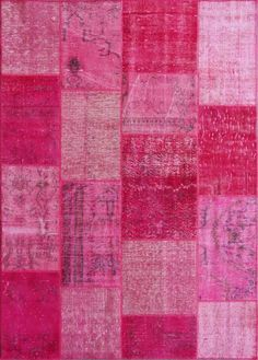 Over Dyed Festival Fuschia Wool  Rug