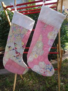 Vintage Quilt Christmas Stockings