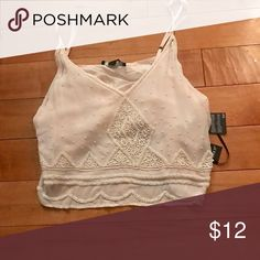 💥Nwt beaded crop top Nwt light pink beaded crop top!! The only difference  from the picture is the one I'm selling is light pink! Forever 21 Tops Crop Tops