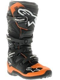 Alpinestars Oransje-svart-hvit 2014 Tech 7 MX-Støvel