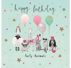 Happy birthday party animals