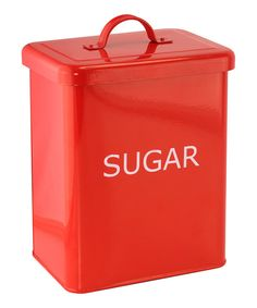 Look at this Red Kitchen 'Sugar' Canister on #zulily today!