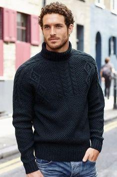 c42e176da921 ... made to order crewneck sweater cardigan pullover men clothing handmade  men s knitting aran cabled. Victoria Handmade Creations · Πλεκτά για άνδρες