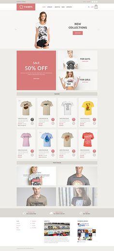 T-Shirt Store Online #Virtuemart #template. #themes #business #responsive