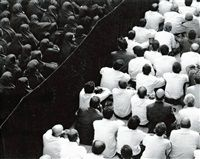 Fervor Series Crowd from Back close-up by Shirin Neshat Shirin Neshat, Close Up, Crowd, Art Direction