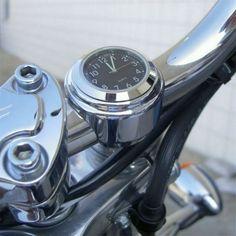 Universal Waterproof Motorcycle Bike Handlebar Mount Clock Watch Durable Aluminum Alloy Clock Locked To Handlebar Motorcycle Clock, Motorcycle Parts, Motorcross Bike, White Clocks, Bike Handlebars, Skull Fashion, Bmw, Touring Bike, Cool Motorcycles
