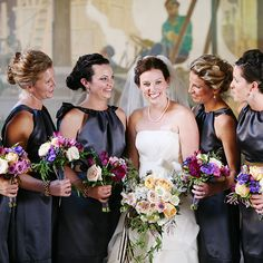 purple vera wang bridesmaids dresses