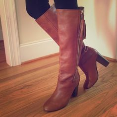 TONIGHT ONLY Coach Boots Beautiful Coach Knee High Boots. These are like NEW condition with big, thick tassels. Worn maybe two times. Coach Shoes Heeled Boots