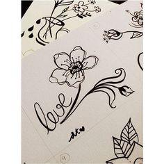 leve. 🌾 . . . #leve #draw #drawing #blackandwhite #blackflower #flower #design #nankin #paint #painting #linework #love #sketch #canson #paperlovers #artist #tattooartist
